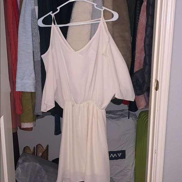 NYMPHE beige dress with hanging sleeves